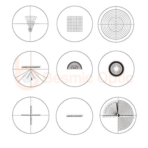 microscope reticle scale, mono eye scope